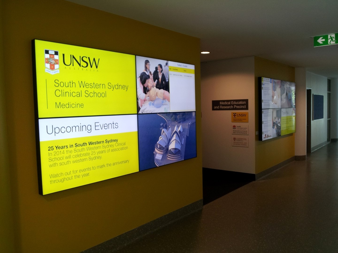 video walls for education, university or schools
